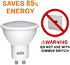 350 GU10 LED Bulbs Warm White Non Dimmable 5W Equivalent to 35 Watts Halogen