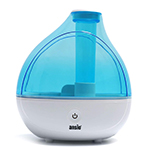 White blue air humidifier. stock image. Image of electric